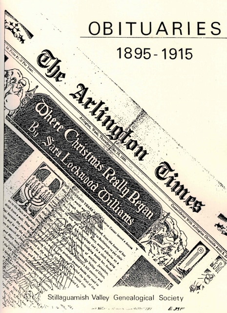 Arlington Times Obituaries, 1895 - 1915