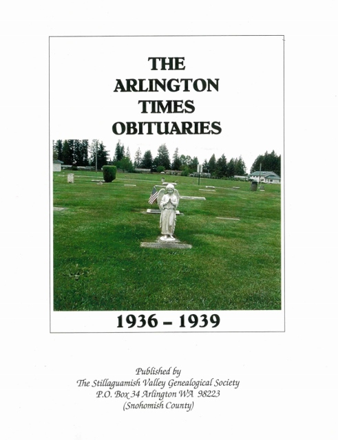 Arlington Times Obituaries, 1936 - 1939